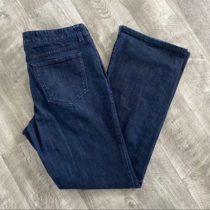Mossimo Denim Jeans Boot Cut Style Dark Wash 12